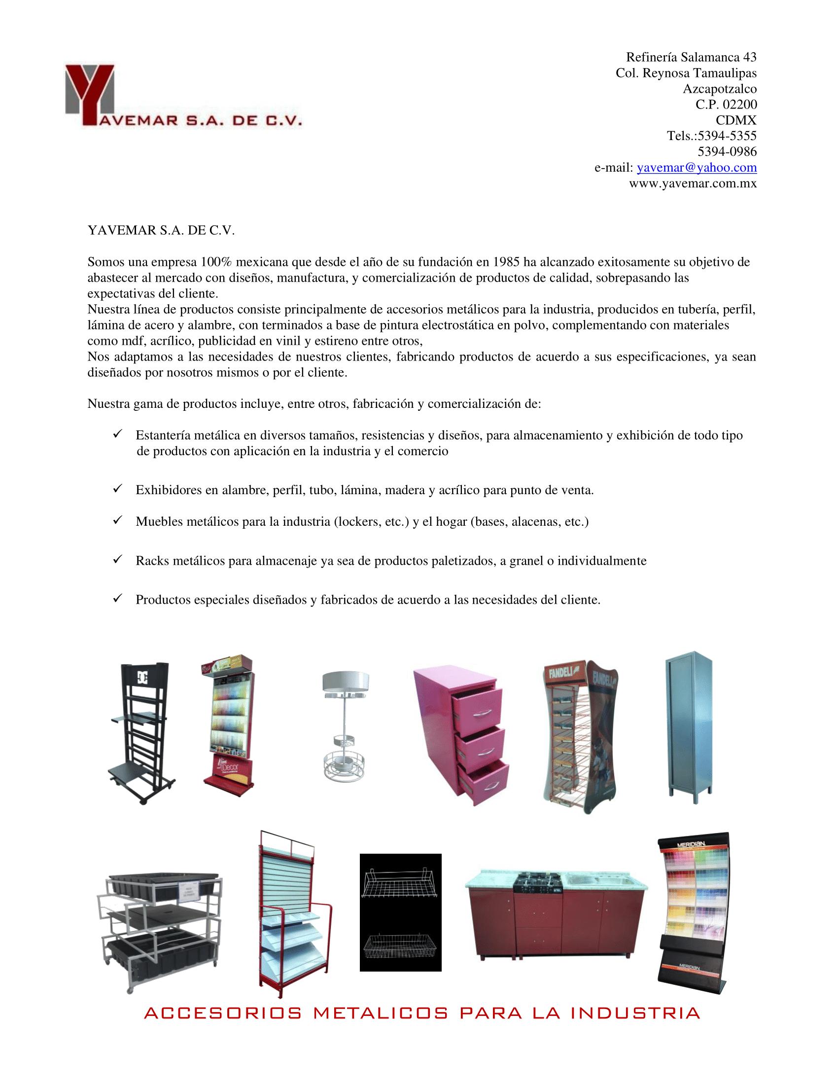 CARTA PRESENTACIÓN- YAVEMAR-1